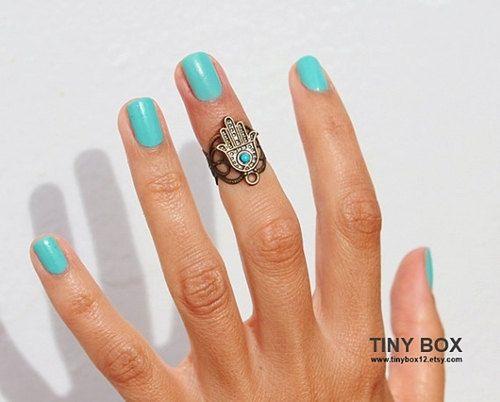 Gorgeous Hamsa Above  Knuckle Ring  Hamsa  Hamsa Hand by TinyBox12, $14.99
