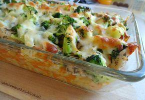 Zapiekanka z kurczakiem, ryżem i brokułami