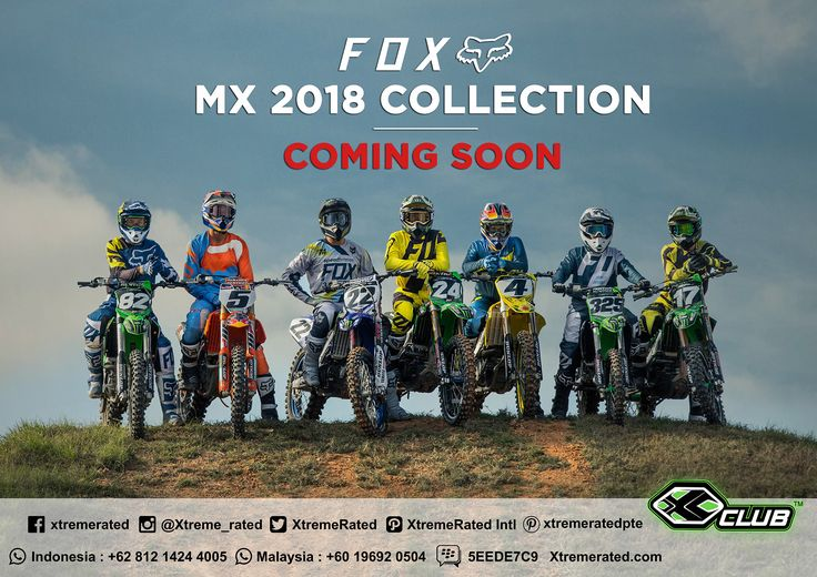 FOX MX 2018 COLLECTION COMING SOON  #xtremerated #xclub #foxracing
