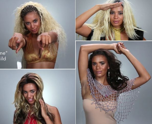 Over the weekend, Buzzfeed hair site Top Knot released a video recreating iconic looks from several Beyonce music videos and album covers — Say My Name, Survivor, Dangerously in Love, Single …