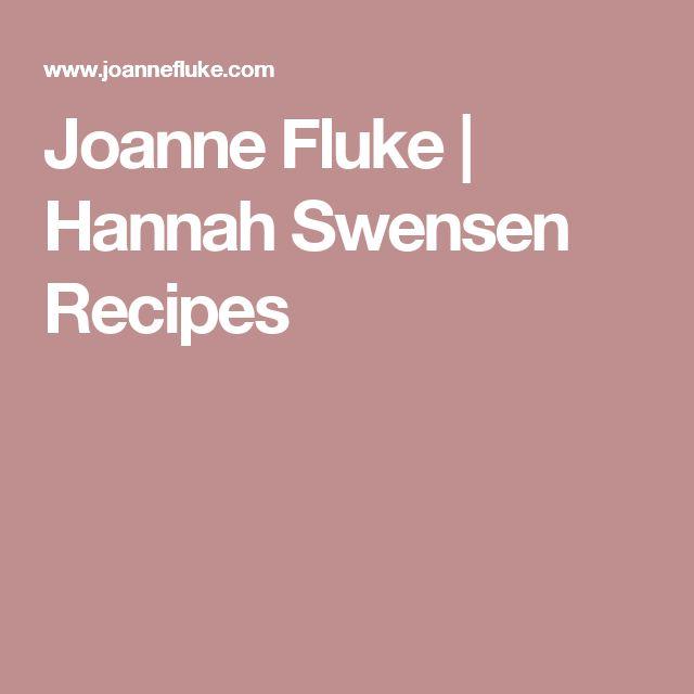 Joanne Fluke | Hannah Swensen Recipes