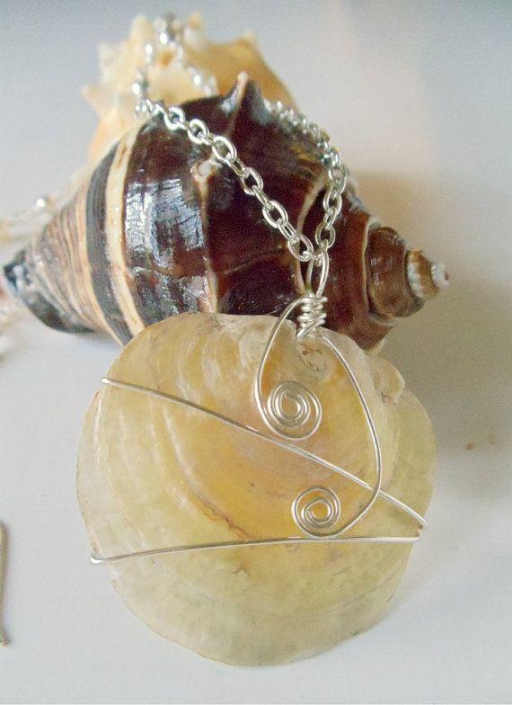 Jingle Shell Pendant Pearl 2 Piece Necklace Set by simplysuzie2, $30.00