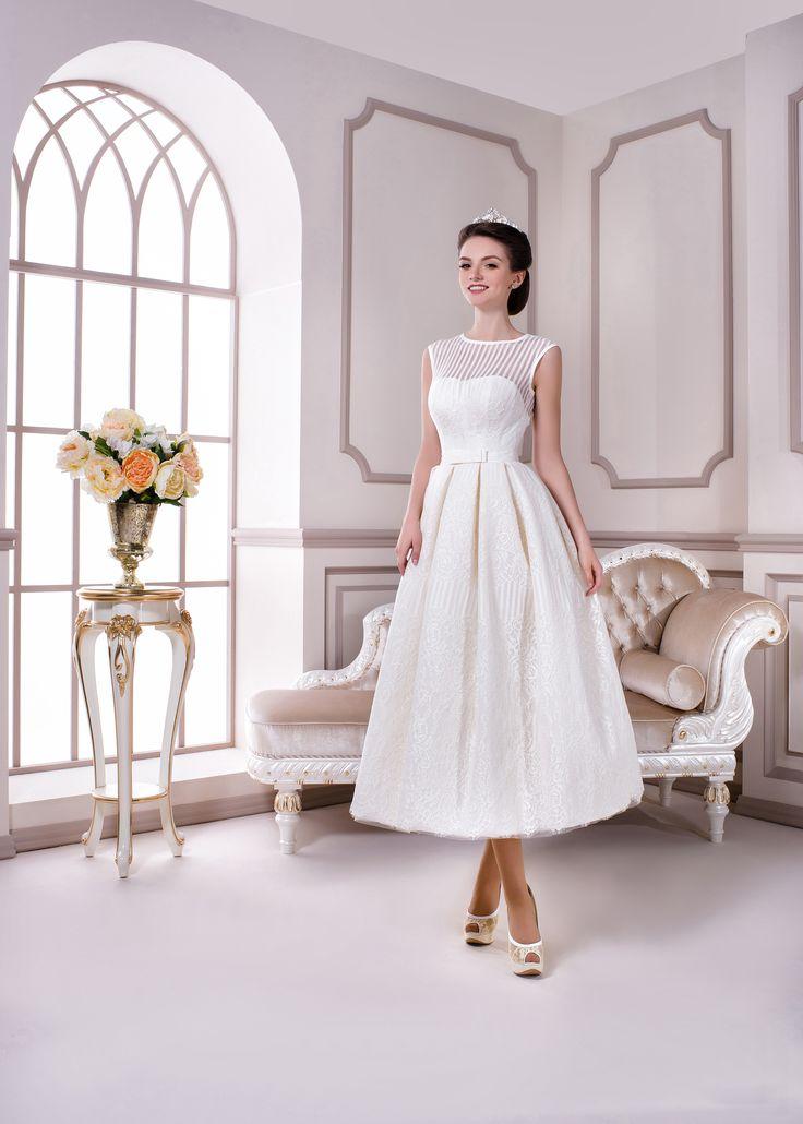 Свадебные платья ниже колен фото