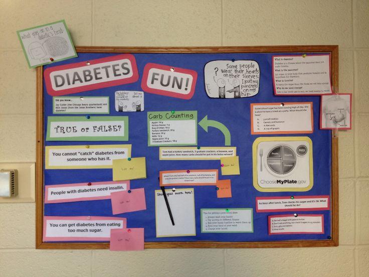 The Diabetes Education Bulletin Board I Made For Mendota
