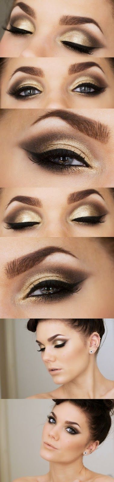 5 Elegant Gold Smoky Eye Makeup Ideas