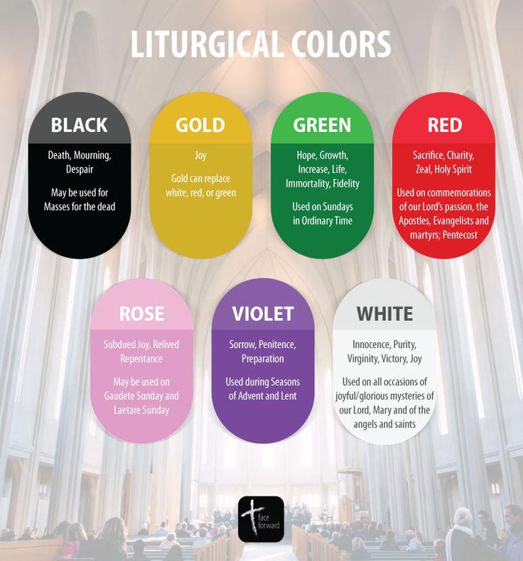 Liturgical Colors of the Catholic Church   Catholic Infographic