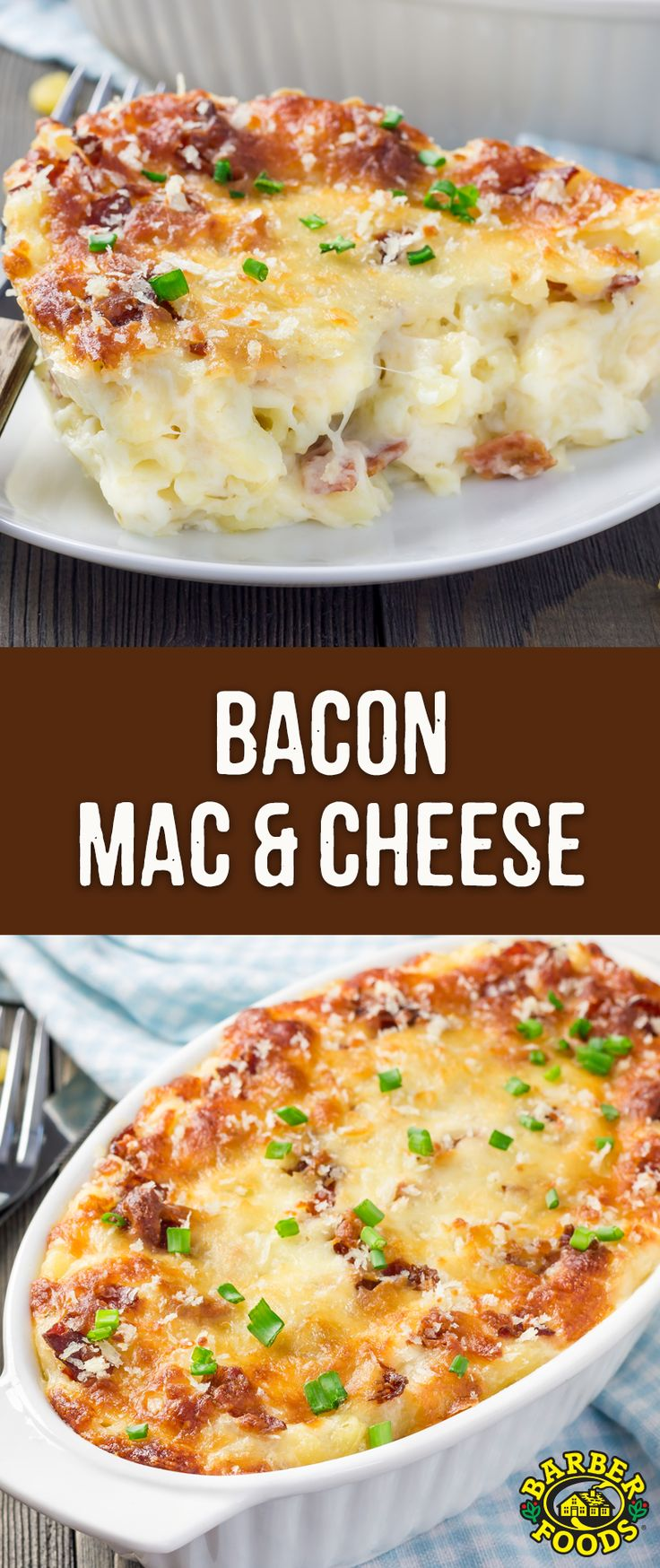 Looking for some delicious comfort food? Check out this EASY recipe for Bacon Mac & Cheese! #barbernight