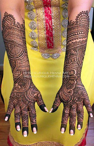Mehndi Bridal Back Side : Bridal mehndi design back side makedes