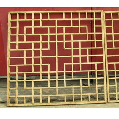 Antique Chinese window screen