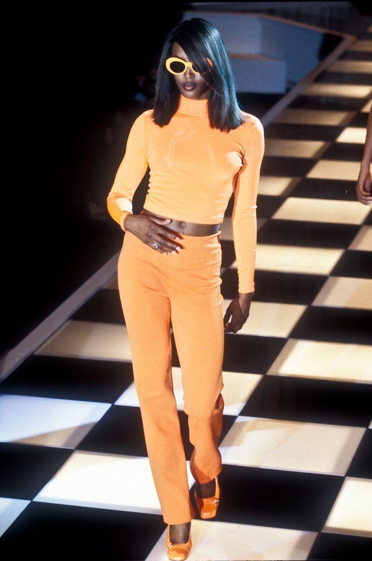 "naomihitme: "" Naomi @ Gianni Versace Spring/Summer 1996 """