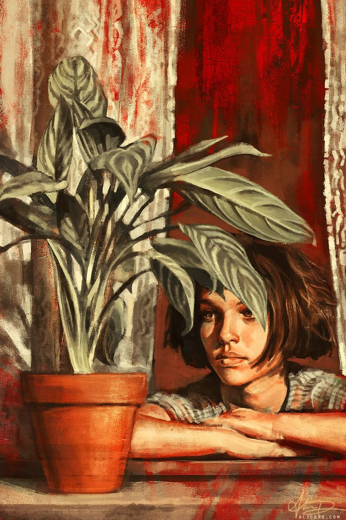 Spectacular Film Inspired Paintings by Alice X. Zhang - My Modern Metropolis (Leon: The Professional)