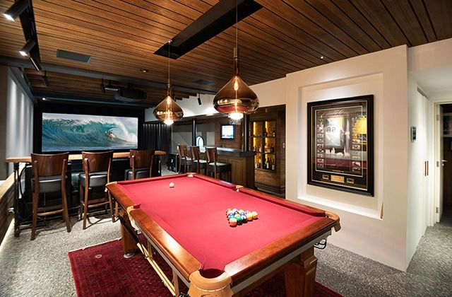 The Ultimate Home Sports Bar Cinema Featuring Sky Fall Glass