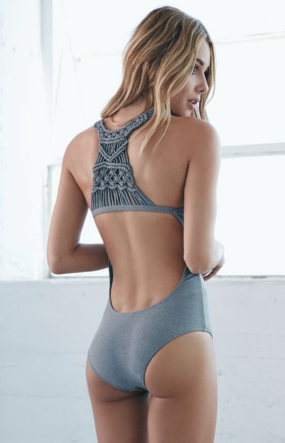All About the Details One Piece Gray Swimsuit