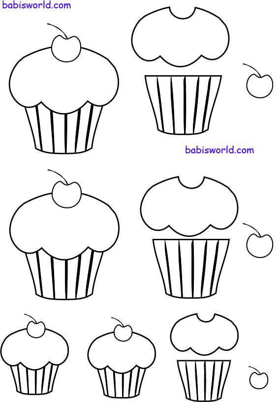 cup cake template - plus tons of other printables she provides on her blog - check them out - bjl