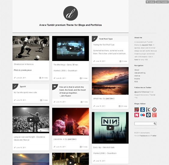 14 best 14 More of The Best Portfolio Tumblr Themes for ...