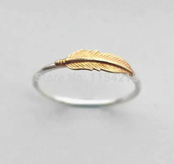 Минимальный 1pc золото 2015 новинка перо кольцо, латунь и повторно кольцо с 2 различных цветов EY R085, принадлежащий категории Кольца и относящийся к Ювелирные изделия на сайте AliExpress.com | Alibaba Group