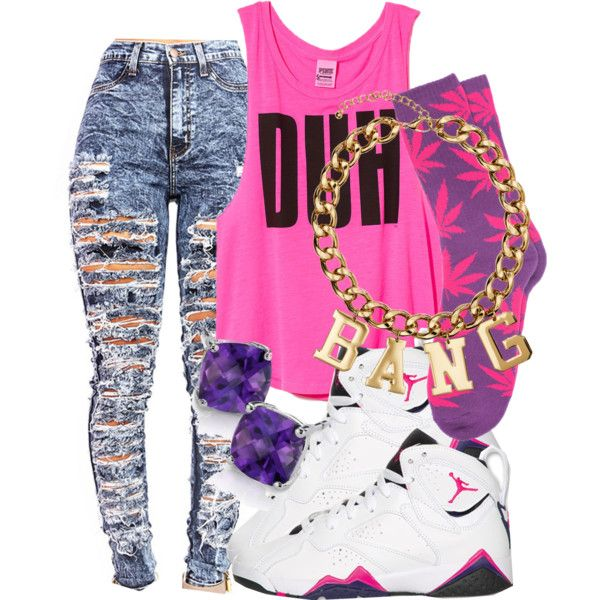 A fashion look from September 2014 featuring Victoria's Secret tops, HUF socks and H&M necklaces. Browse and shop related looks.