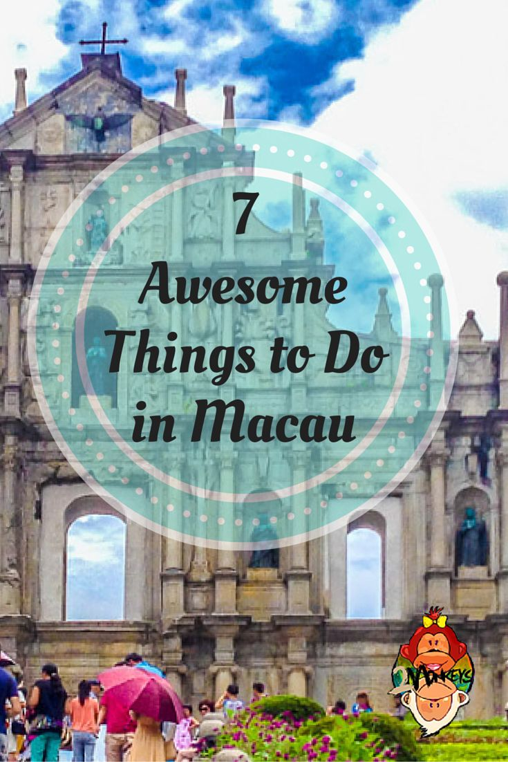 AWESOME THINGS TO DO IN MACAU. Just an hour away from Hong Kong by ferry, #Macau is another special administrative region of China. The influences of its former Portuguese colonial masters have been successfully weaved into its Chinese heritage, as seen in its buildings, food, and tradition. Because of the presence of many casinos and high-end shopping centers in such a small peninsula, Macau earned the nickname 'Las Vegas of Asia.' #ThingsToDo #Itinerary #TwoMonkeysTravelGroup