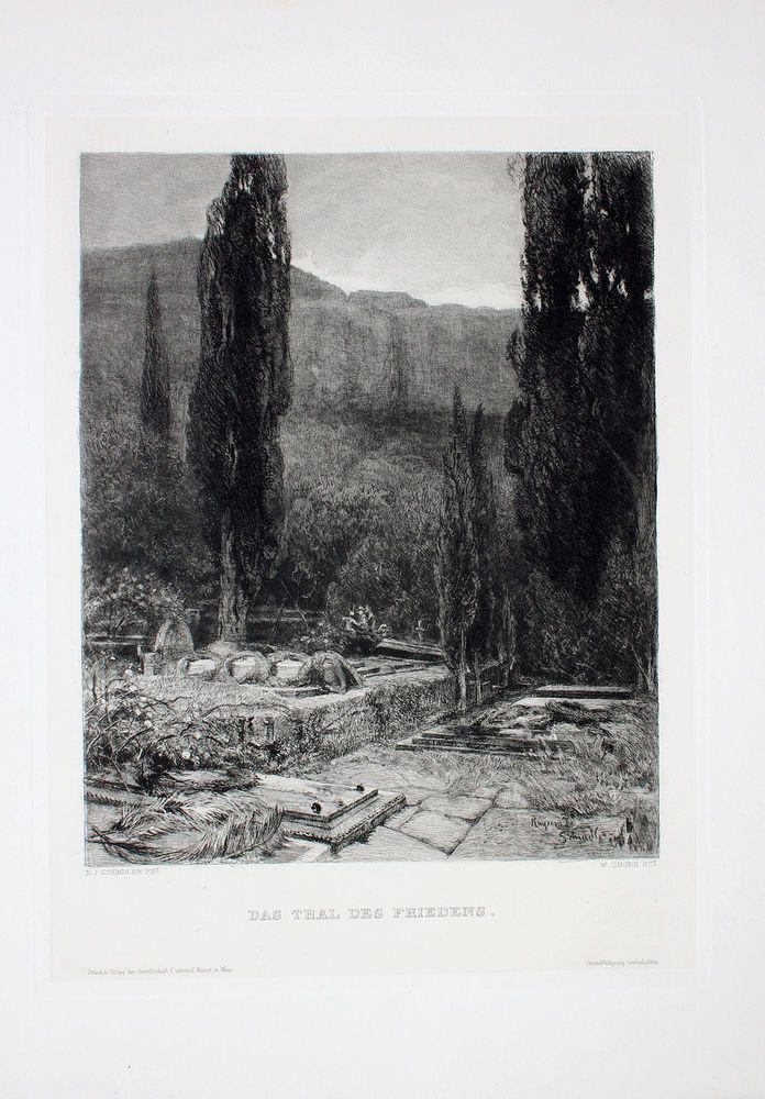 Jacob Schindler Zypressen Lokrum Friedhof Lacroma Dubrovnik Mrtvo Dalmatien