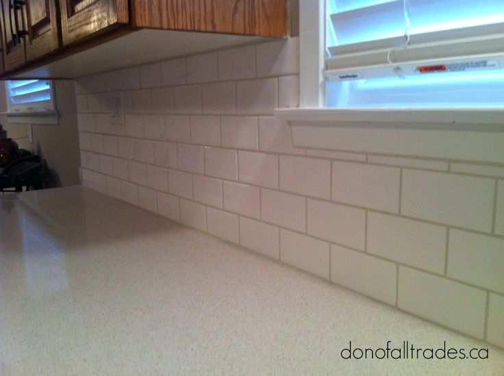 Add life to your kitchen with a Subway Tile backsplash. Let our Don Of All Trades Professional Home Maintenance Service experts install your new ceramic tile. Get a quote now! Book your complimentary consultation today! Call direct 905-259-5249 or email info@donofalltrad.... Need more information? Visit our website at www.donofalltrade... to find out more about our services and how we can assist you will all your home improvement needs.