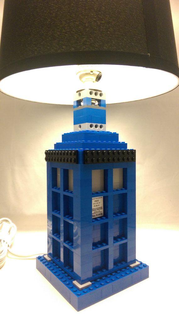 Handmade Blue Police Box lamp doctor who lamp / by brickablocks