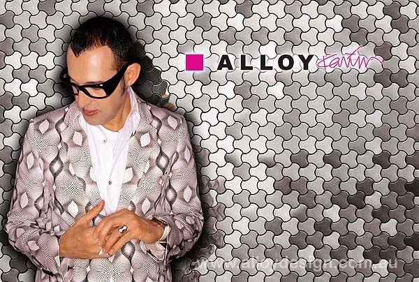 Karim Rashid collaborates with ALLOY to create a collection of 8 organic metal tiles.