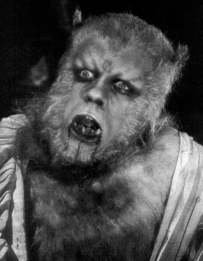 "Oliver Reed in makeup as the wolfman for the 1961 film ""The Curse of the Werewolf """