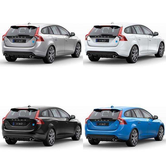 Do you want the new 367-hp #Volvo V60 #Polestar in silver, white, black or blue? cars.polestar.com