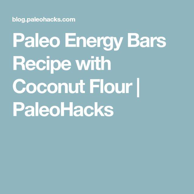 Paleo Energy Bars Recipe with Coconut Flour | PaleoHacks