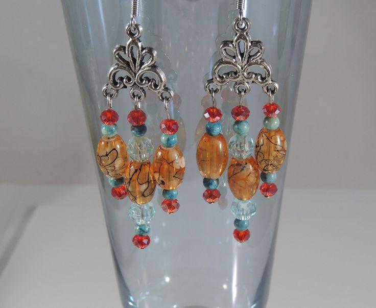 """Shades of Autumn"" chandelier earrings"