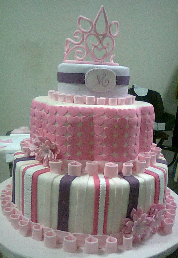 35 best Quinceanera Cakes images on Pinterest Quinceanera cakes