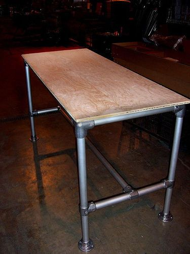pipe table for over washer/dryer