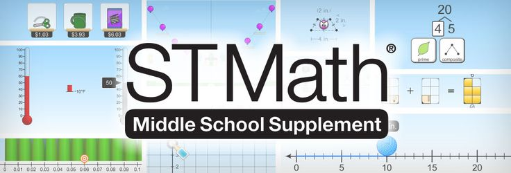 Prepare Students for success in #Algebra 1. ST Math, an interactive learning program is now available for middle school from MIND Research Institute