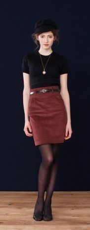 Brown skirt outfit
