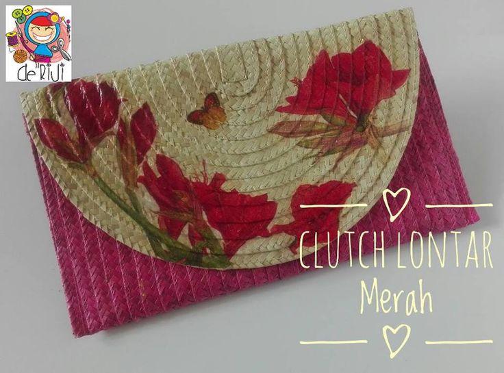 Clutch Lontar Ukuran 28 cm x 16 cm