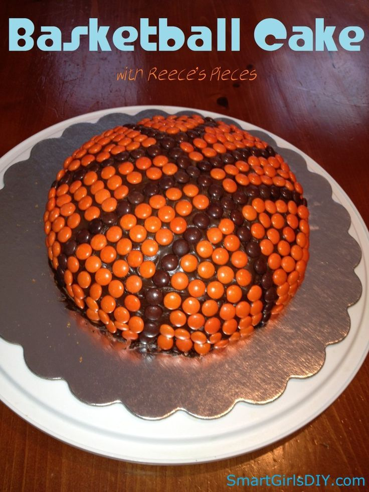 Basket Ball Birthday Cake with Reece's Pieces