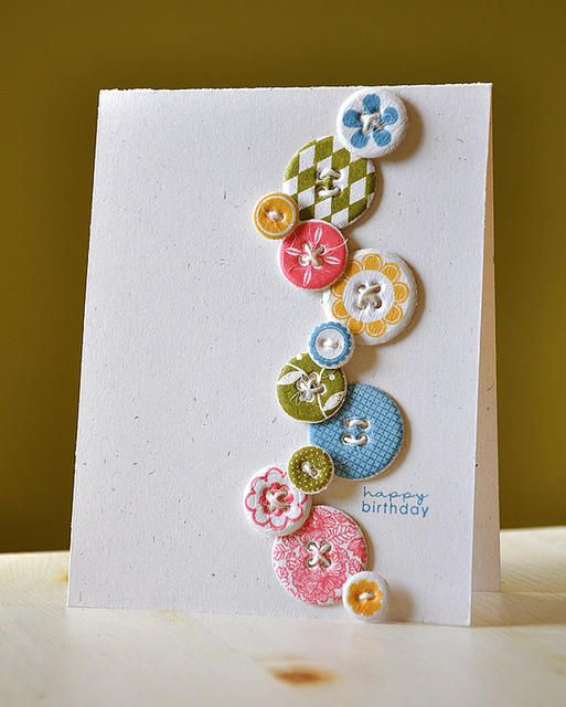 amazing stamping: Crafts Ideas, Cute Cards, Cards Ideas, Birthday Cards, Handmade Cards, Paper Scrap, Greeting Cards, Buttons Cards, Birthday Ideas