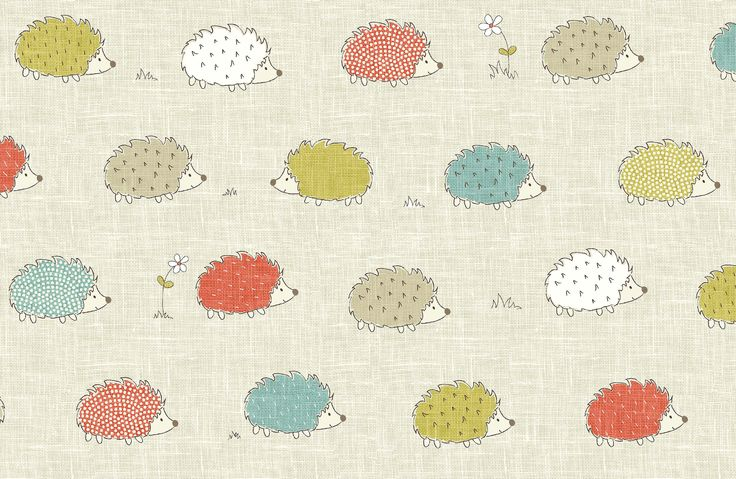 Hedgehog fabric, by Fryett's Fabrics