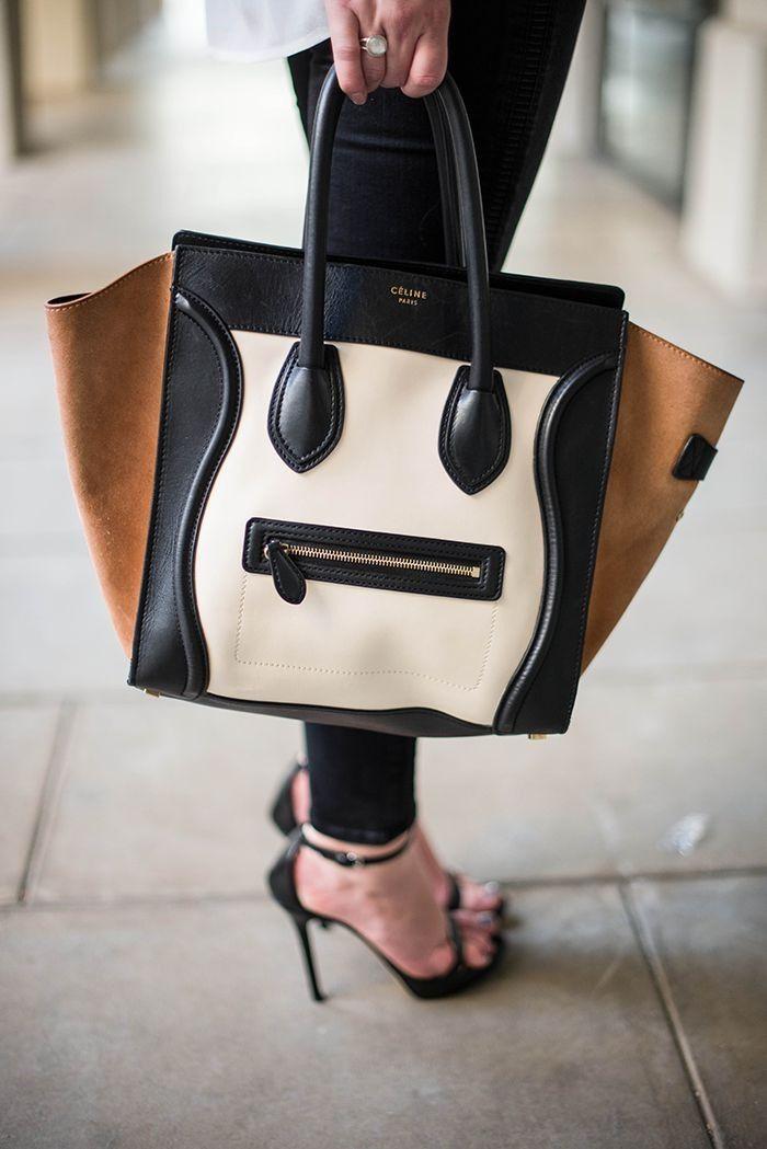 Agora vou falar das novas bolsas clássicas. São 4:  - Prada  - Céline( a da foto)  - Balenciaga  - Longchamp
