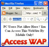 How to Access WAP Sites on Firefox with User Agent Switcher | Tech Stumps