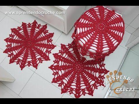 Jogo de Banheiro em Crochê Rápido e Fácil - Crochê On Line - Gráficos, Paps e Vídeoaulas