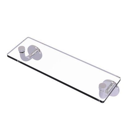 Home Glass Vanity Vanity Shelves Polished Nickel