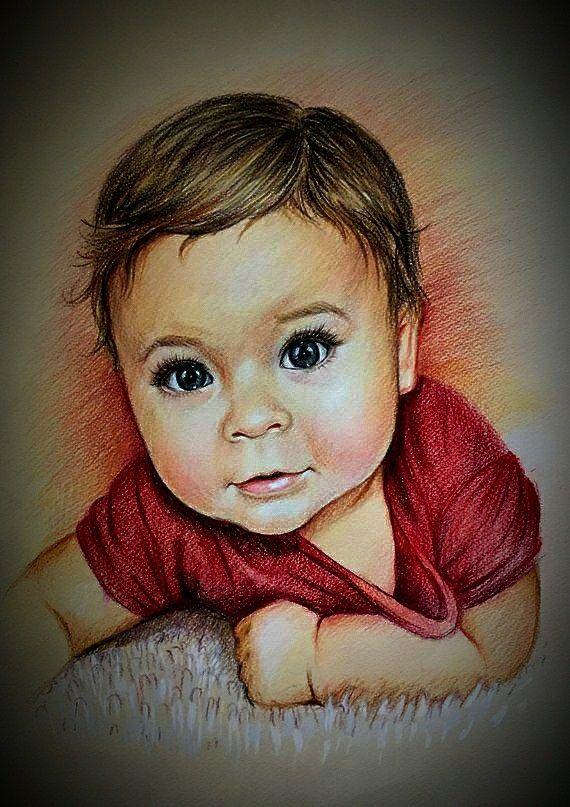 Pet Portrait Custom Portrait Drawing Family Portrait Child Portrait GIFT VOUCHER Coloured Pencil Portrait
