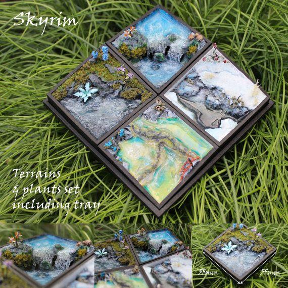 Skyrim Miniature Terrains & Plants by alarmeighteen on Etsy