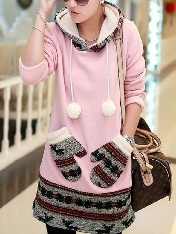 New Arrival Casual  Long Sleeve Blended Cotton  Hoody Hoodies from fashionmia.com
