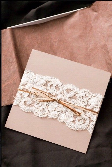 www.weddbook.com everything about wedding ♥ DIY Lace Wedding Invitation ♥ Cheap  Wedding Invitation | Ucuz El Yapimi Dugun Davetiyesi #vintage #diy #lace