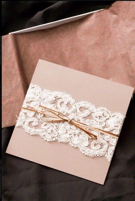image of Encaje invitación de la boda de DIY ♥ invitación de la boda barato