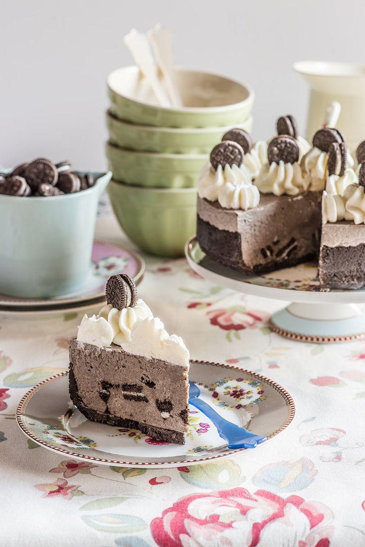 Cheesecake de galletas Oreo