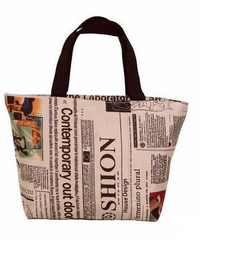 Newspaper Print - Brown Accents