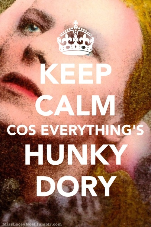 Keep Calm cos Everything's Hunky Dory. @Kat ............